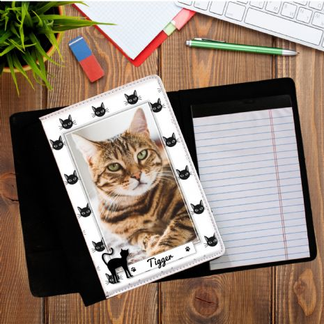 Personalised Cat PHOTO Notepad Notebook with paper N10